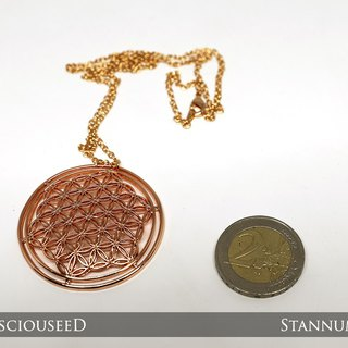 Flower of Life Pendant (Rose gold plated)