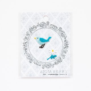 Blue bird Embroidered Patch