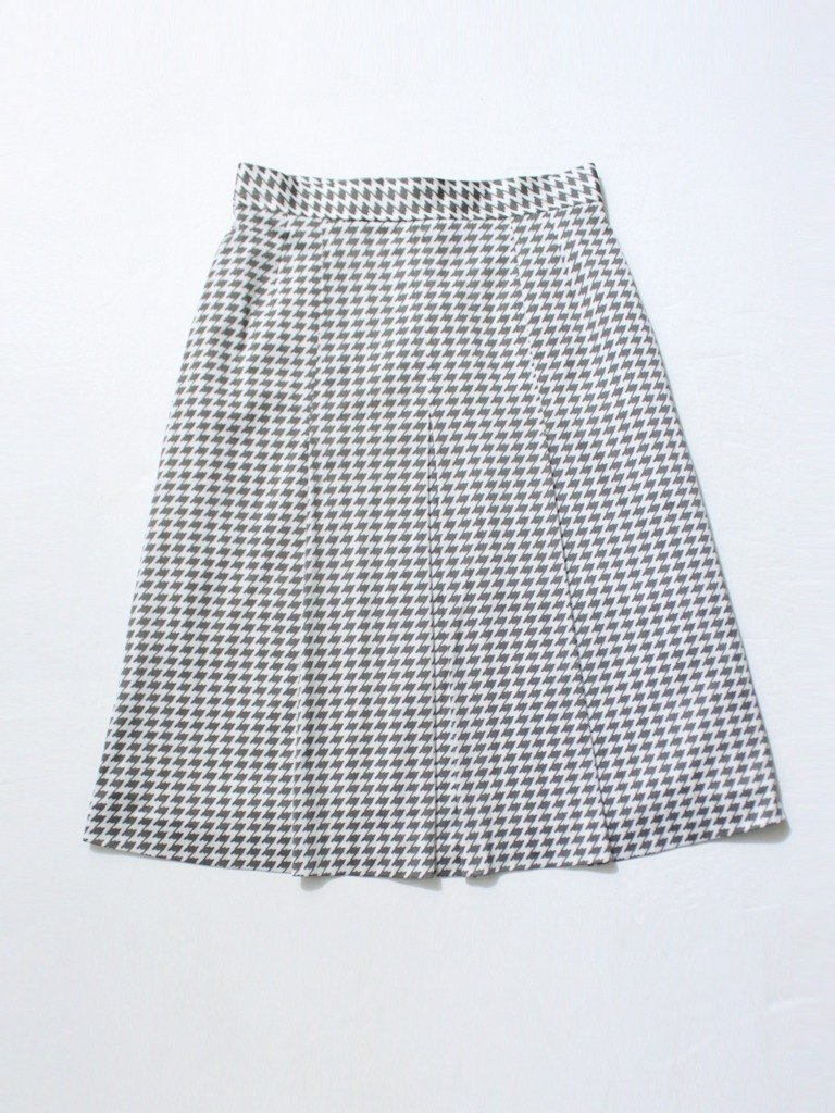 [RE1005SK170] autumn Japanese retro vintage gray houndstooth skirt vintage skirt