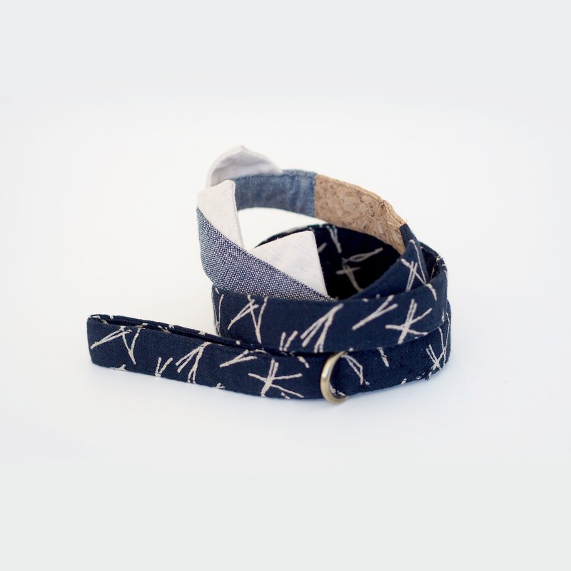 Indigo Denim Corkboard Mix Leash | For Dogs
