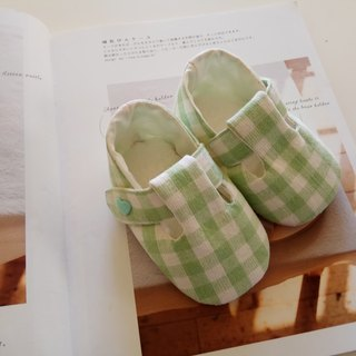 <Green Grid> Moon Gift Baby Shoes Baby Shoes