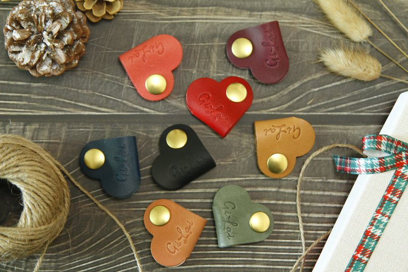 [Gi LAI] Valentine's Day limited edition Italian vegetable tanning / love handmade leather winder