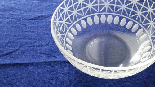 KIRIKO Bowl Large grid flower + ball