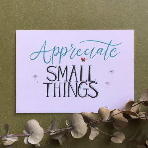 Appreciate Small Things明信片
