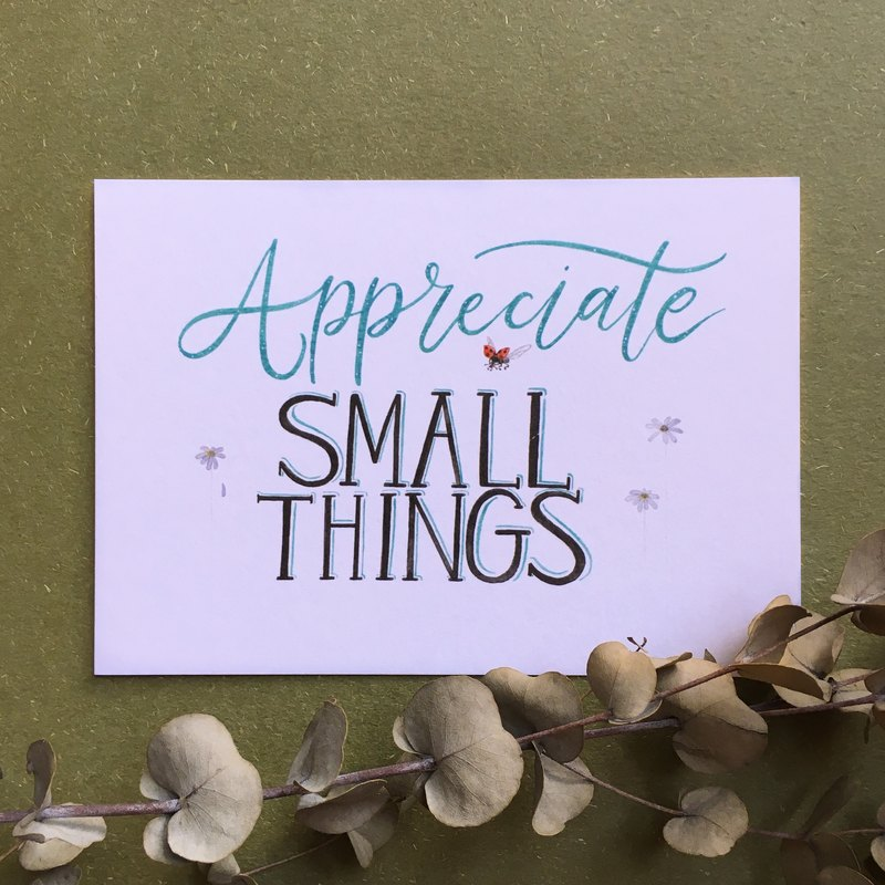 Appreciate Small Things Postcard