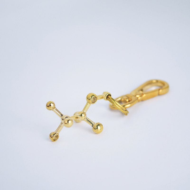 [Chemical Beauty] Alcohol Brass Keyring Charm