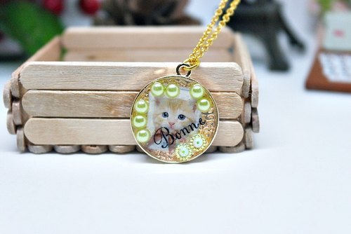 Japan UV glue alloy necklace * meow * ➪ Limited X1