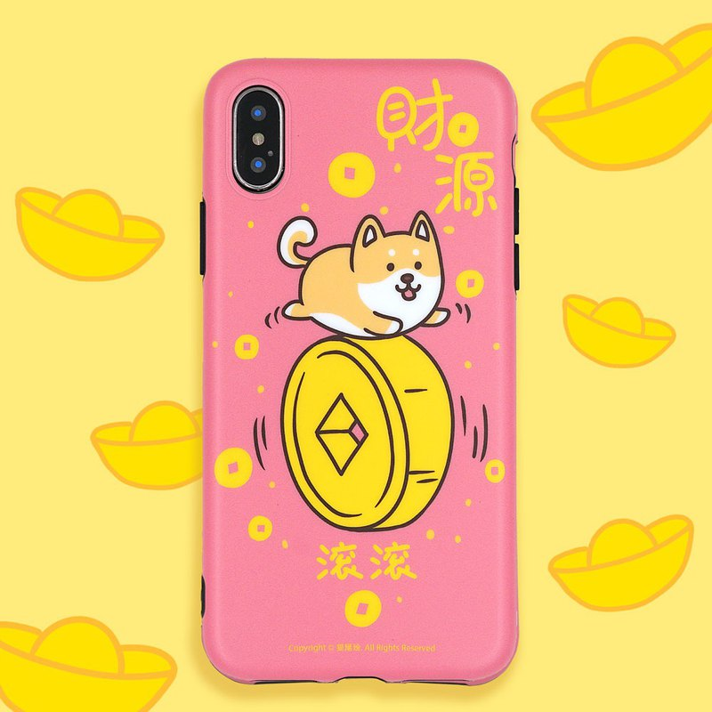 Wealth rolling cute phone case