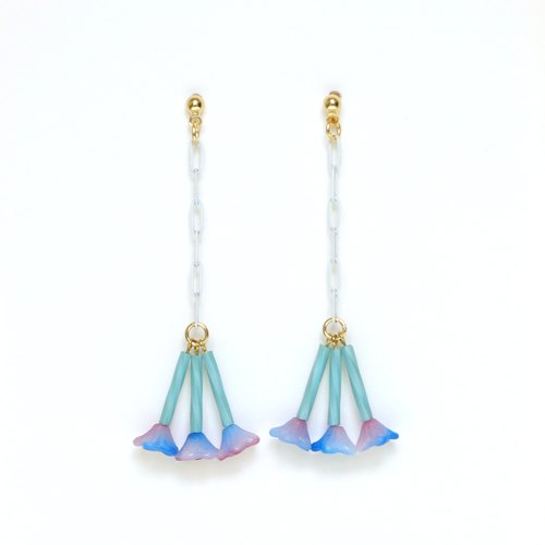 [Jasmine-blue] beads Earrings