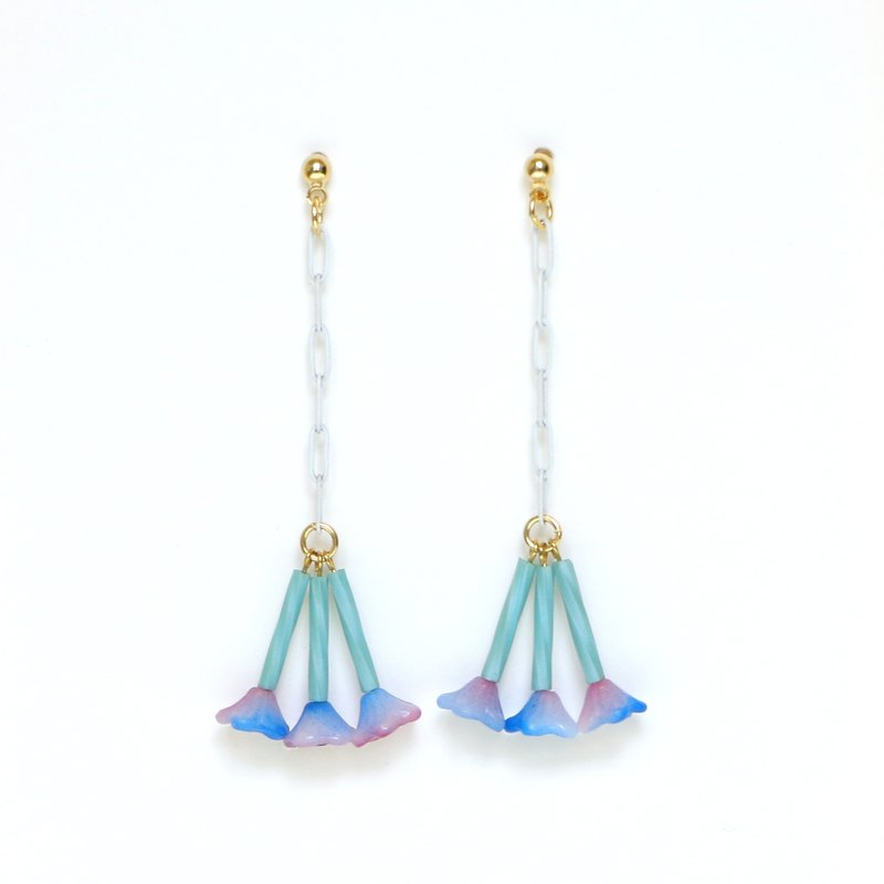 jasmine-blue Beads earrings / earrings