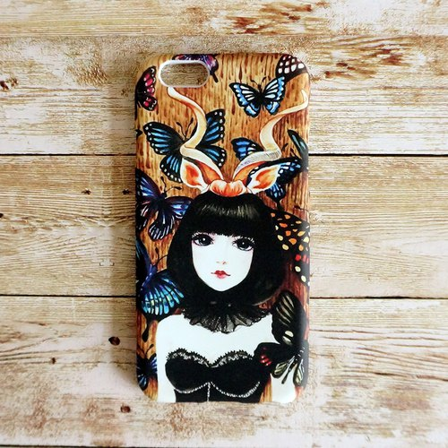 "ENEY painting iPhone 6 printing envelope mobile phone sets ""butterfly girl"""