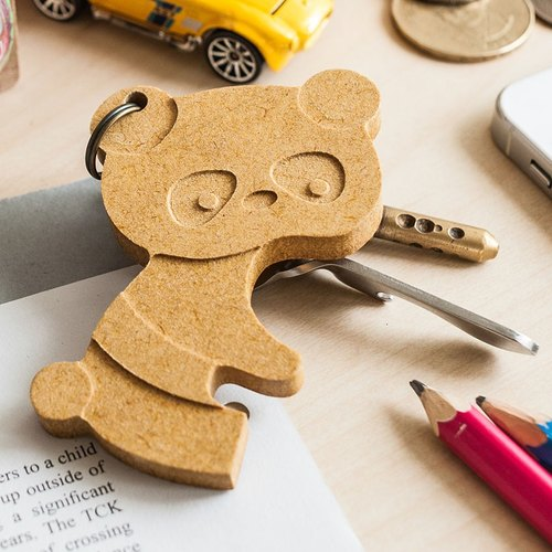 【Customized gifts, Christmas gifts, birthday gifts】 Panda paternity cute panda ┇ custom key ring strap can be engraved (a group of two into)