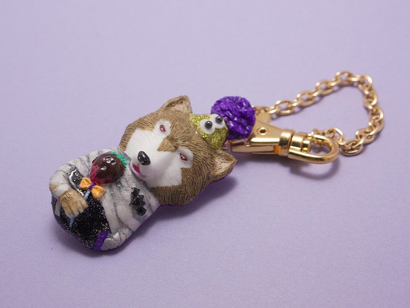Clive bag charm / brooch 2way-halloween