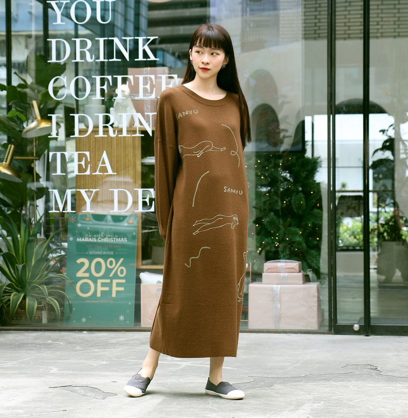 Cognoscenti Coffee Sweater II / Fall / Winter / Hand Printed / Chang Yu