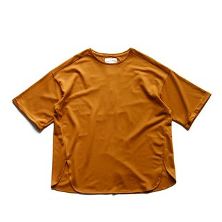 Japanese paper fiber rolled sleeve T-shirt