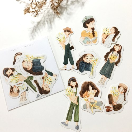 / Stickers/ Florist Fall / 8pcs /