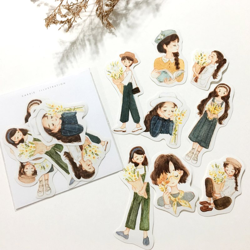 Florist Fall Stickers 8pcs