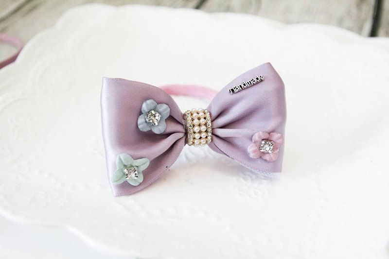 Sweet House romantic purple flowers handmade bow hair bundles Limited