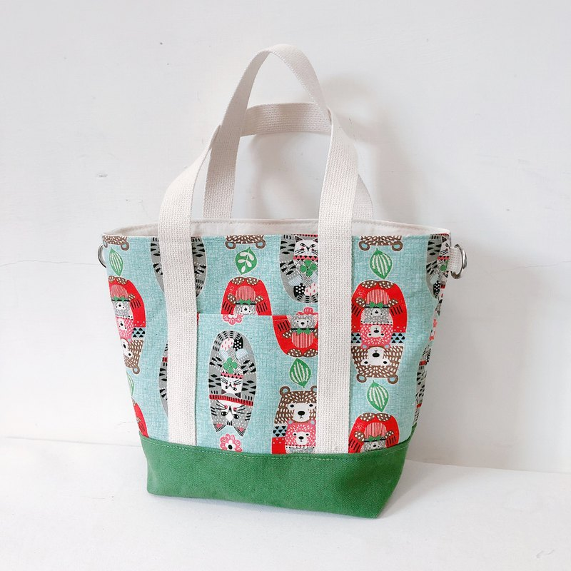 Russian doll bear/2ways tote bag/handbag/shoulder bag