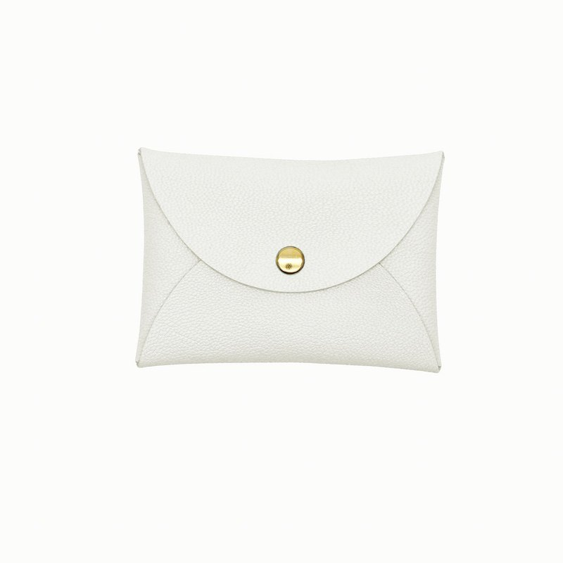Multicolor real leather goatskin macaron white card holder / wallet / card holder / card case