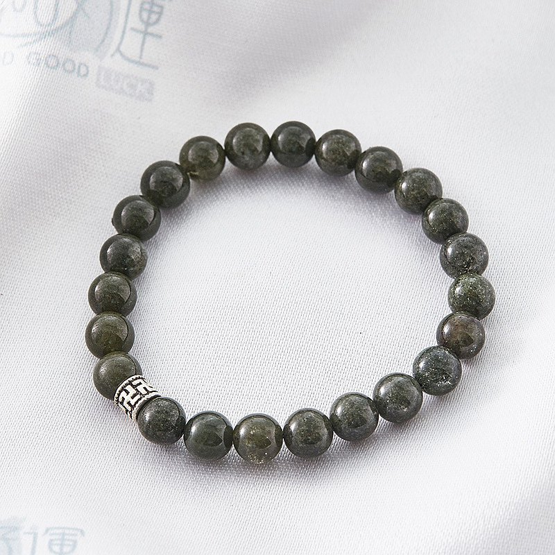 Calm 卍-Character Green-Phantom Crystal Bracelet -  (Consecration included)