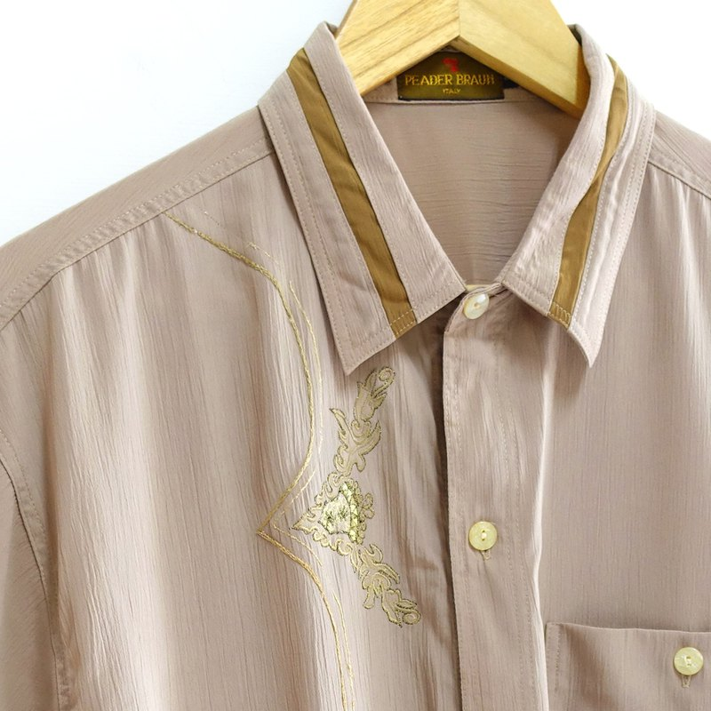 │Slowly│Embroidery Art - Vintage Shirt │vintage.Retro.Literature