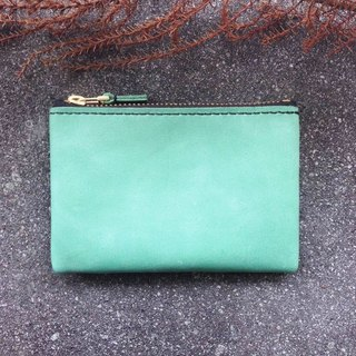 Mezzanine zipper wallet pink green ykk gold zip coin purse