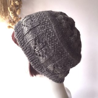 Gray gray warm knit hat for men and women apply