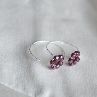Slow Fire - Garnet S999 Sterling Silver Sterling Silver Bead Earrings