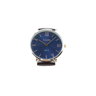 Customized Watch - Dark Blue Sun Pattern