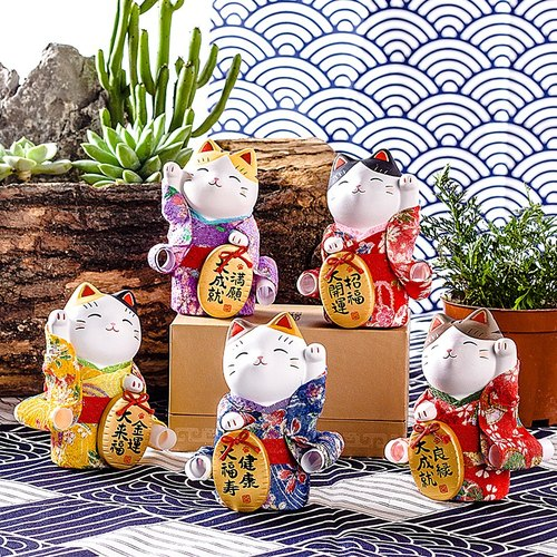 [Christmas gift] Japanese pharmacist kiln Lucky cat large ceramic creative car car ornaments wedding birthday lover gift opening