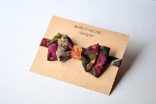 Vintage Japanese Honey Peach - Bow tie