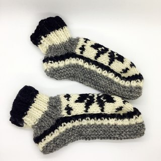 Nepal 100% wool handmade thick knitted warm wool socks