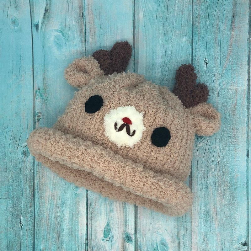 Reindeer - woolen woven baby wool hat Mi Yue Li Zhou Lie (both adults and children have sizes)