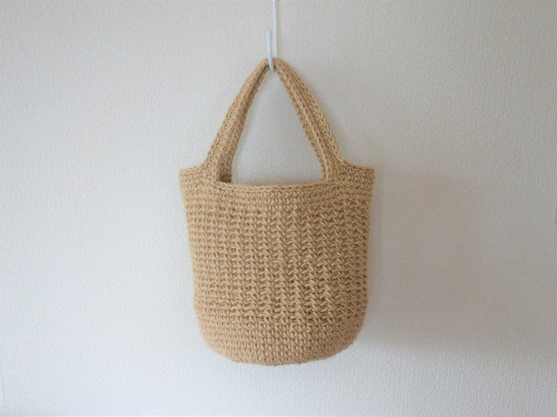 Round bottom tote bag(big),long-handle type,jute string