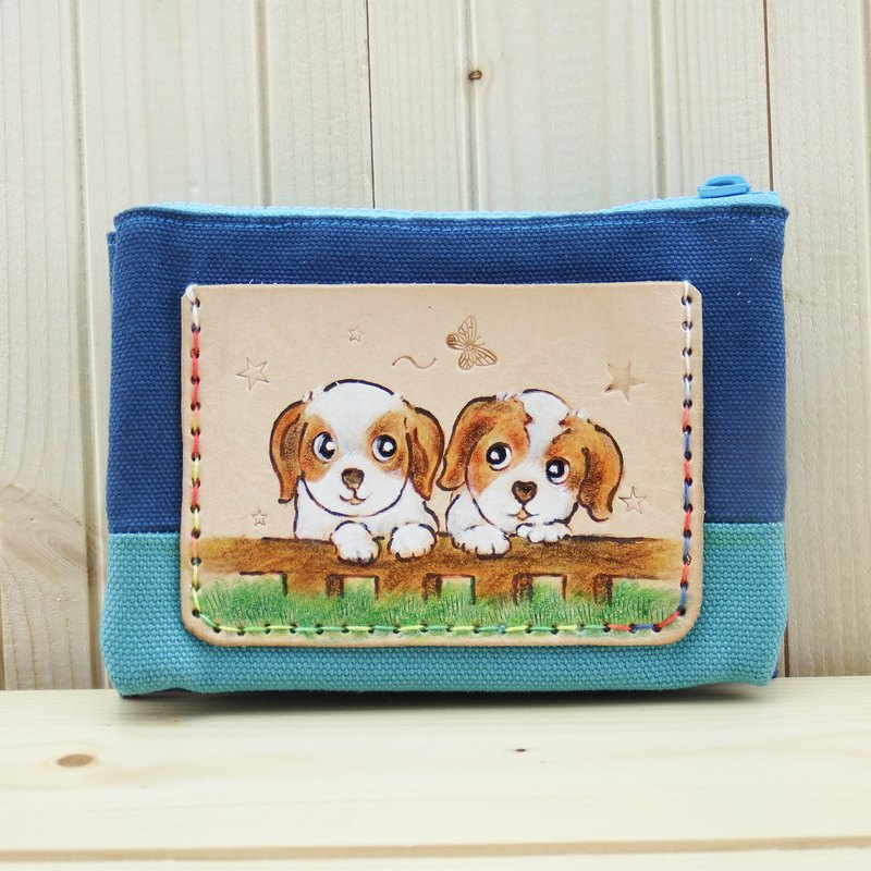 Multilayer leather bag fabric purse best partner hair child