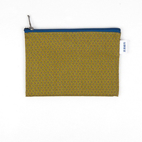 은혜직물 pouch / brown dot cloth zipper bag