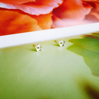 925 sterling silver [flower series stars small wildflowers ear needles]