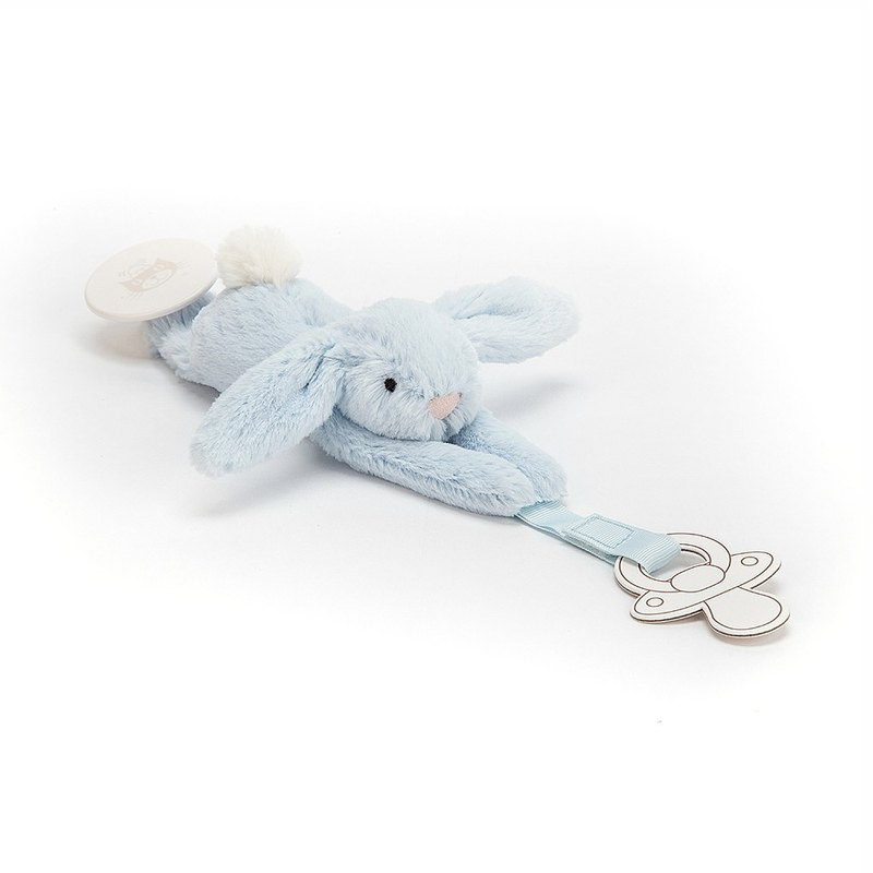 Jellycat Bashful Blue Dummy Holder