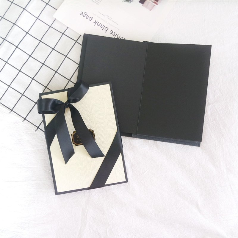 A5 British wind strap black card manual book - extended type inside photo album album book album
