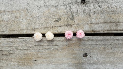 With real flowers || snowball dry flower earrings earrings
