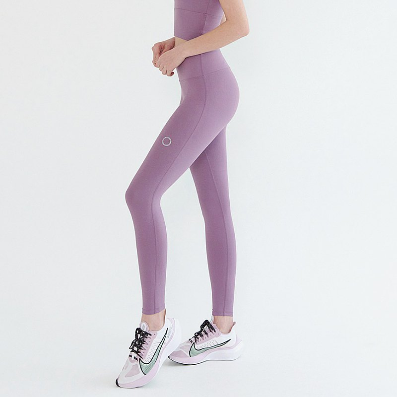 Front2line 2.0 High Waist Nude Yoga Pants Grey Fuchsia FPK070PURPLE