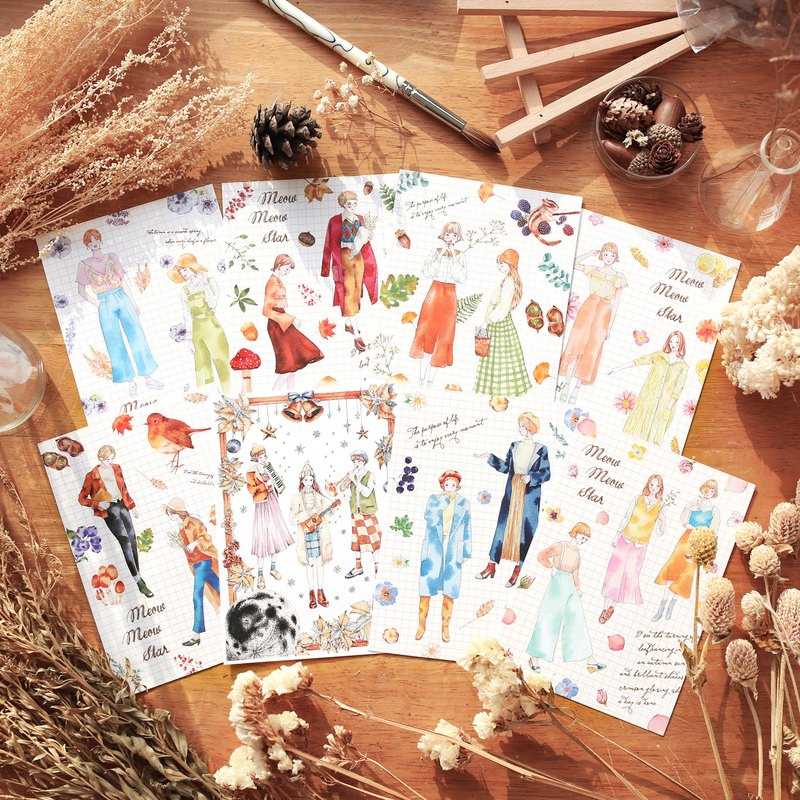 Season Girl Postcards - 7 in total