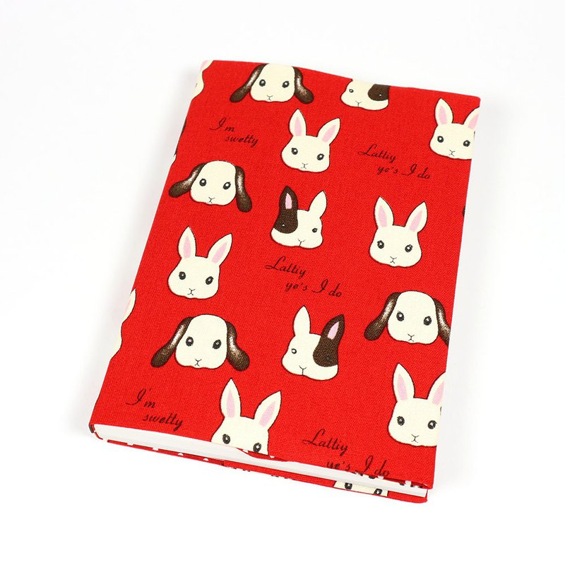 A5 cloth book cover mother book cloth book cover book - sweet rabbit (red)