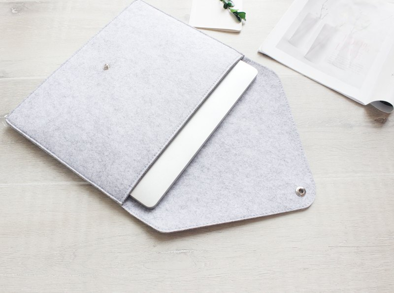 【Can be customized】 original handmade light gray blankets Apple computer protective cover blankets sets of laptop bags 13.3 MacBook Air 13 inch (can be tailored) - 039
