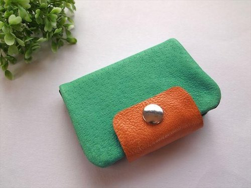 Pig leather soft card case [hand-dyed leather] 1612001
