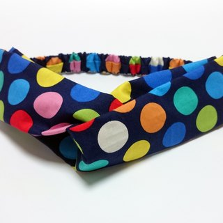 Color Bubble elastic cross section headband Hairband*SK*