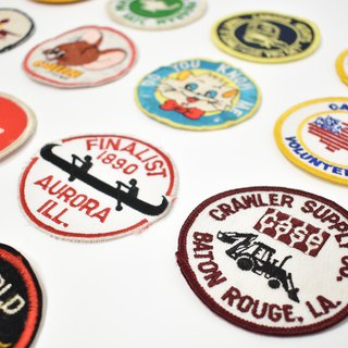 [10 years old] vintage cloth ∣ embroidery hot ∣ hot cloth stickers