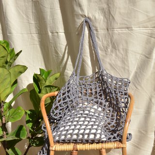 Grey Nagridia Crochet Bag