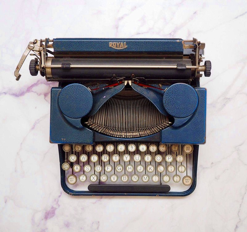 American Royal Antique Typewriter - Blue